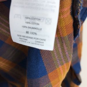 Madewell Tops - Madewell Fall Colors Flannel Shirt Size Medium